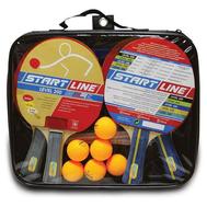 Набор теннисный START LINE LEVEL 200 (4 ракетки, 6 мячей, сетка с креплением), фото 1
