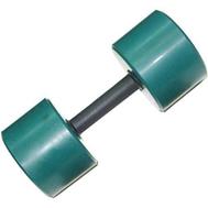 Гантель обрезиненная 10 кг, цветная MB-FitC-10, фото 1
